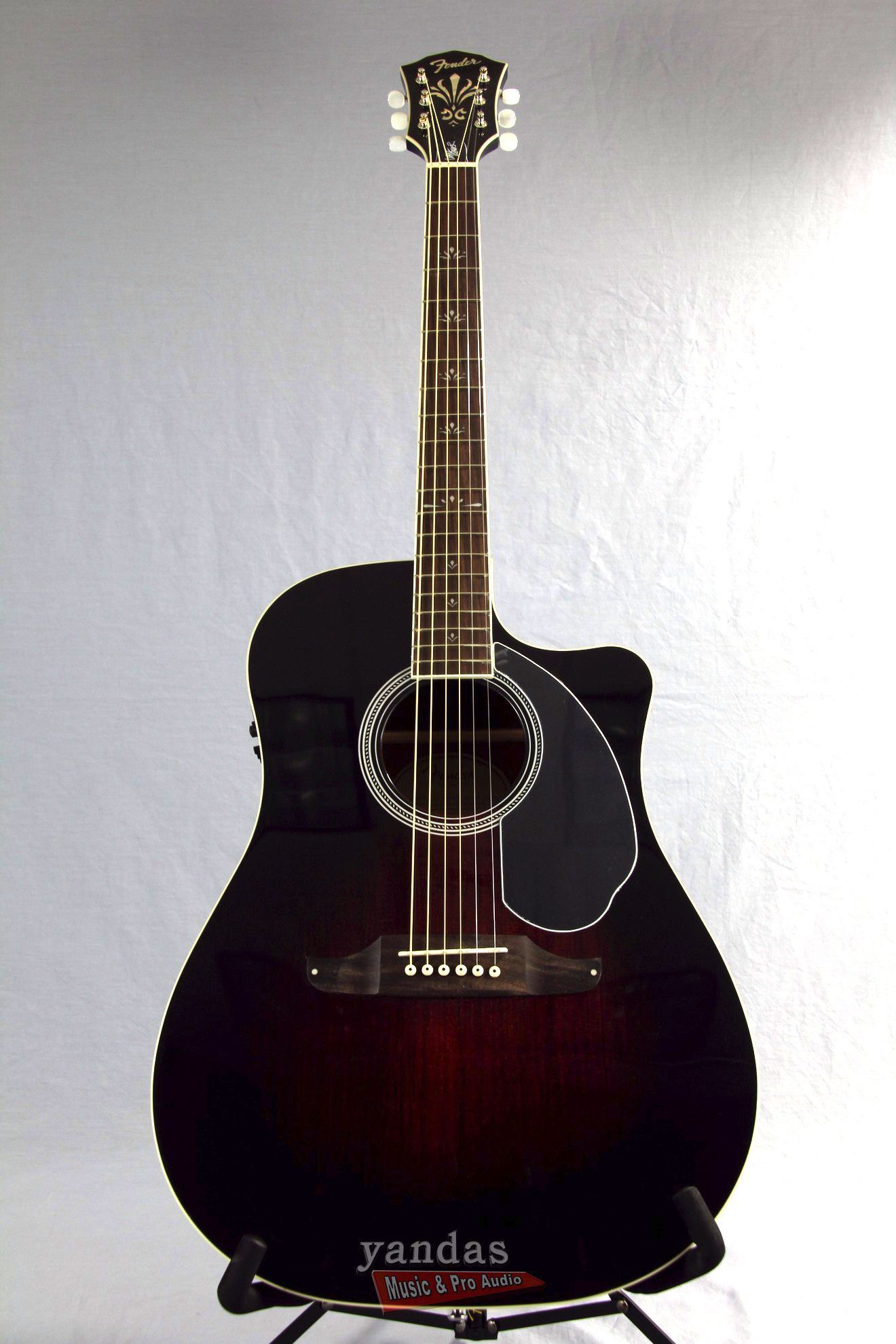 Fender Wayne Kramer Dreadnought CE Acoustic-Electric Guitar | Spruce Top | Vintage Sunburst