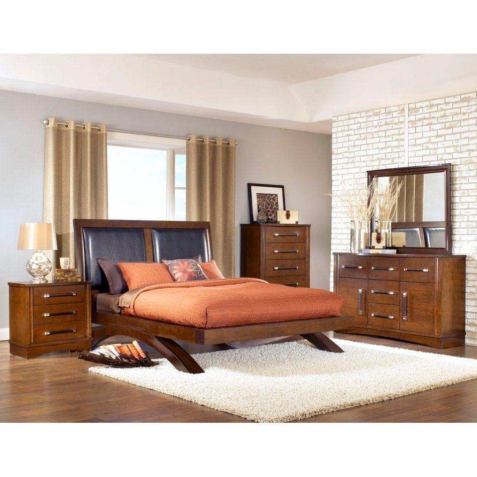 Java Bedroom - Bed, Dresser, Mirror - King (JV600) | Conn\'s | Home ...