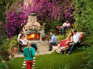 Who wouldn't want a comfortable, happy backyard? Following