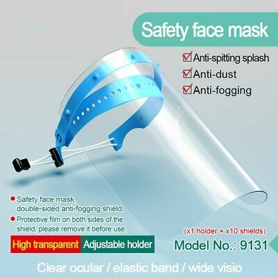 Clear Safety Mouth Shield Cover Anti-fog Face Shield Kitchen Protector