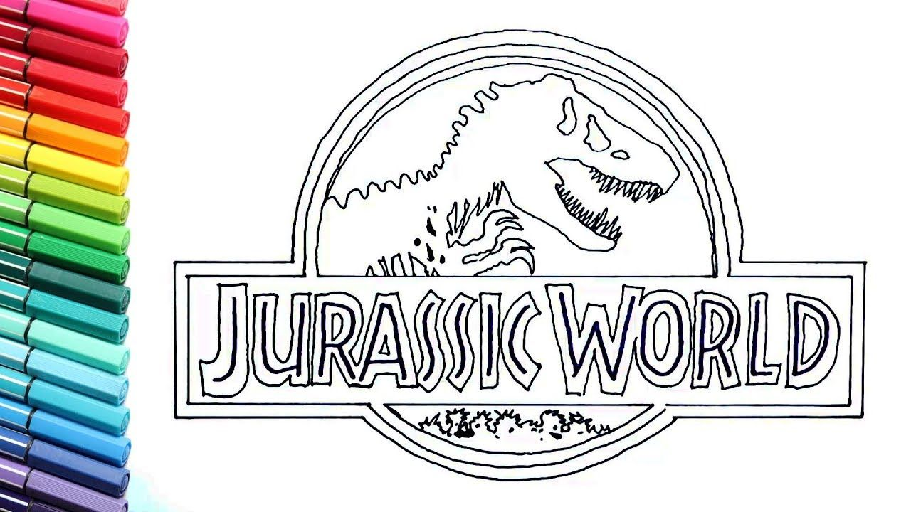 Image Result For Jurassic World To Colour Dinosaur Coloring Pages Jurassic Park Jurassic Park Logo