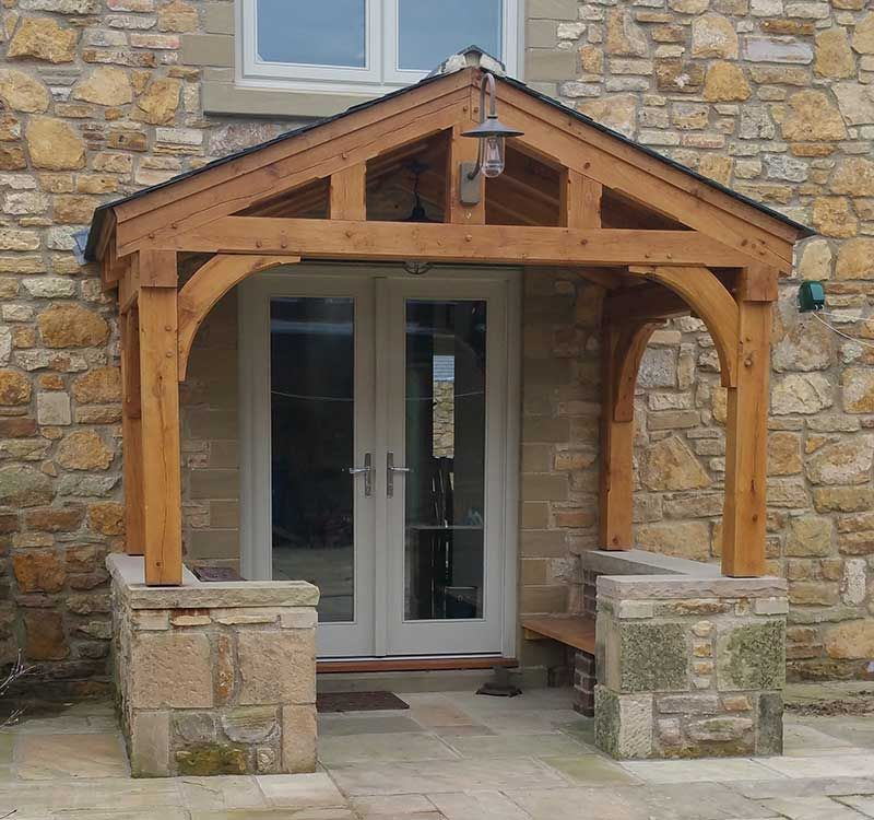 A comprehensive gallery of oak porch design u0026 ideas. Pictures of various designs and installations will give you a better idea of what you may be requiring. & Oak porch with gallow brackets | Oak Porches | Pinterest | Porch ...