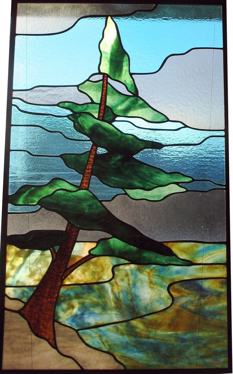 Custom made lone pine stained glass pinterest