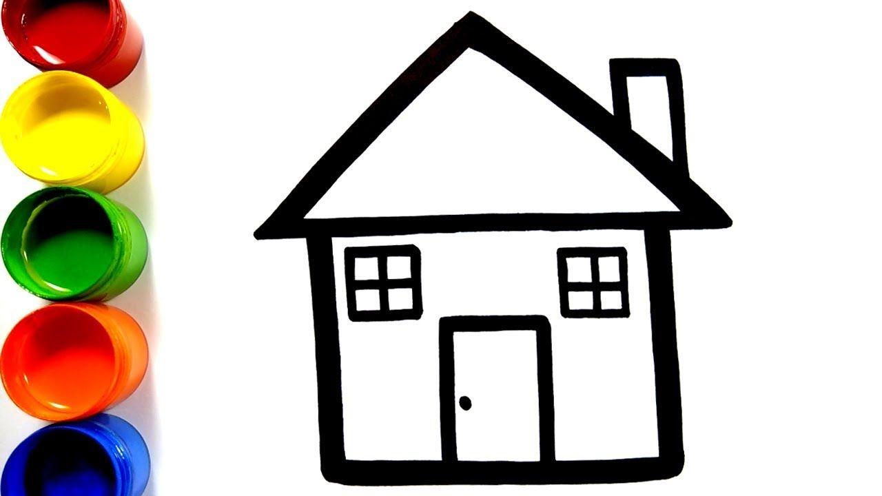 Cara Menggambar Dan Mewarnai Rumah Mainan Menggambar Dan Mewarnai Main Cara Menggambar Rumah Bermain Gambar