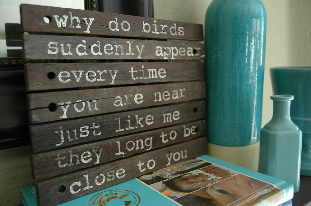 Reclaimed Signs — why do birds-natural  //i love this song!  you can't read the words without singing it out loud!