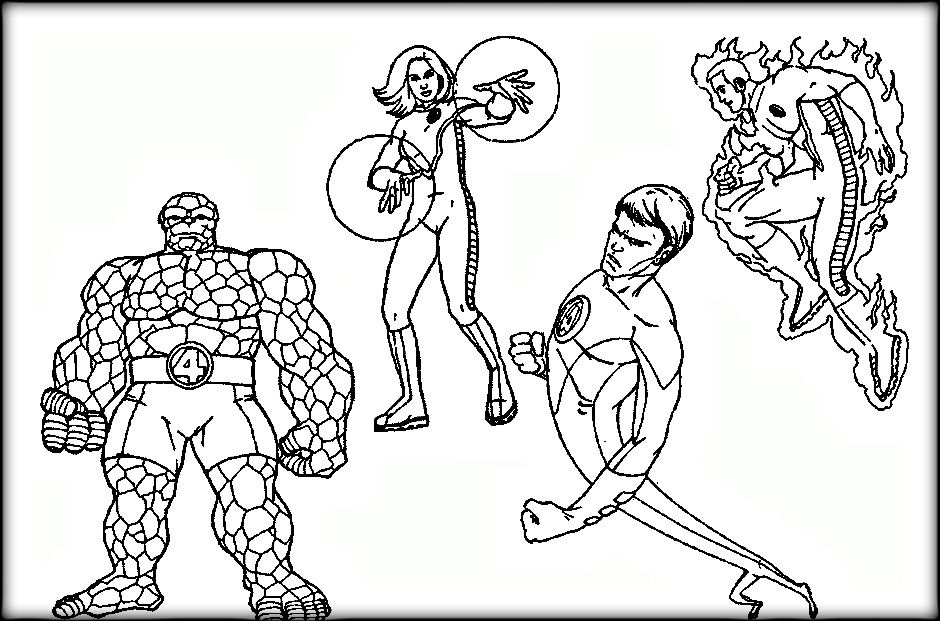 Fantastic Four Coloring Book Tree Coloring Page Coloring Pages