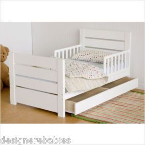 Da Vinci Modena Toddler Bed W Storage DrawerWHITENEW