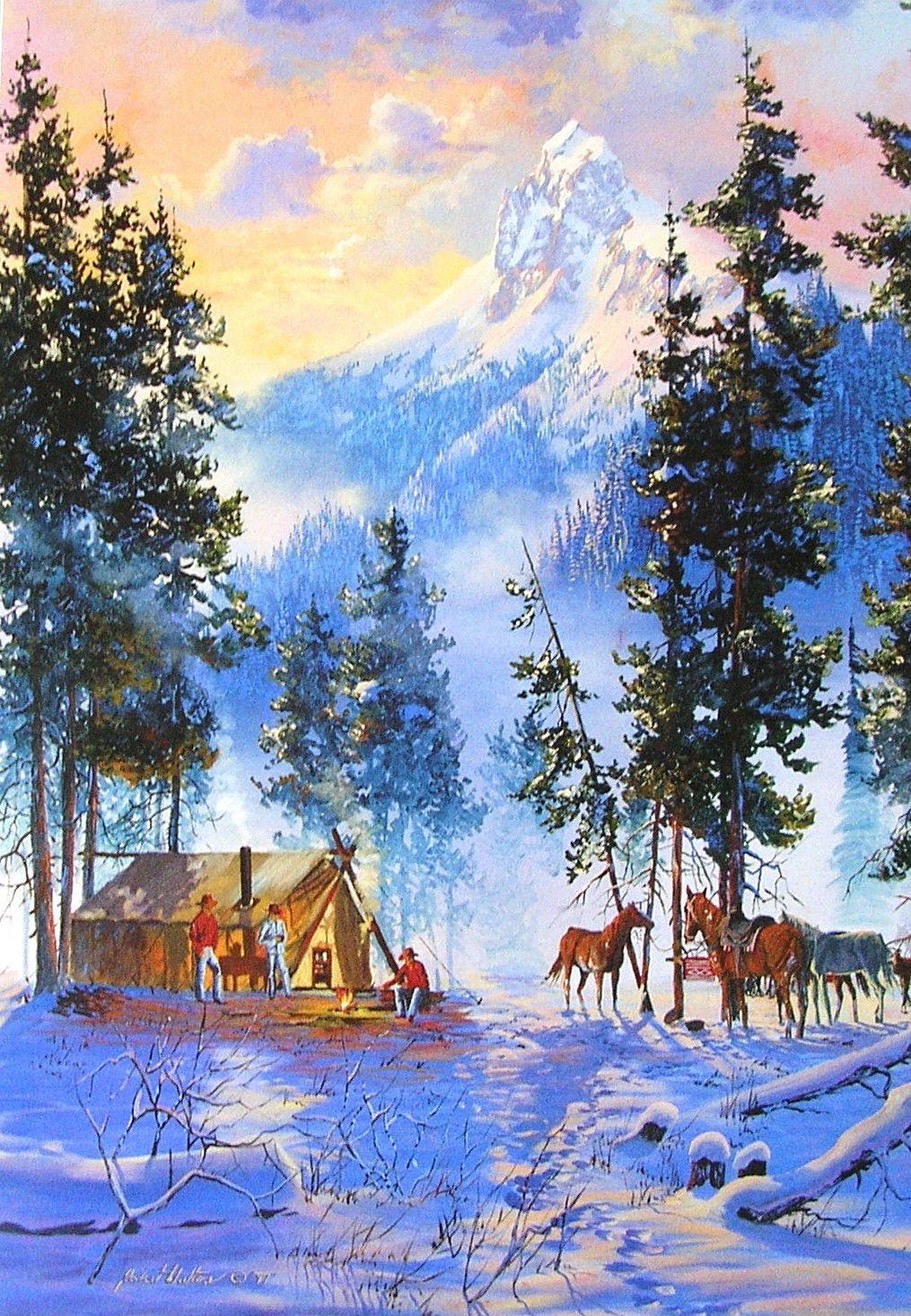 Leanin Tree Robert L Walton Horse Mountain Cowboy Camp Christmas