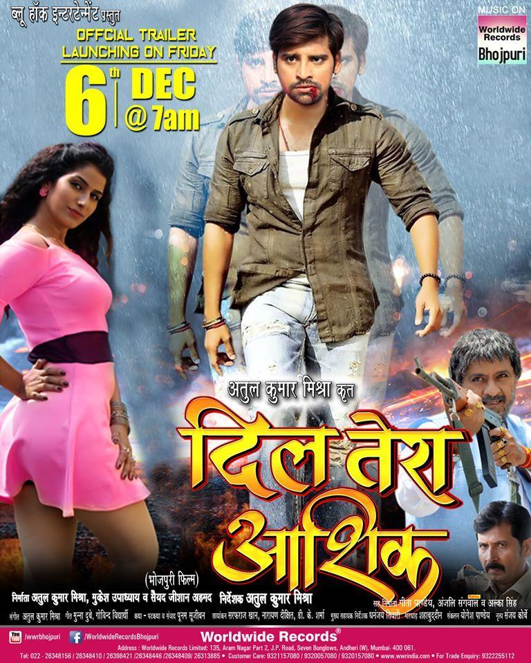 Dil Tera Aashiq Bhojpuri Movie Poster Feat Rakesh Mishra Poonam Dubey Star Cast Movie Posters It Movie Cast