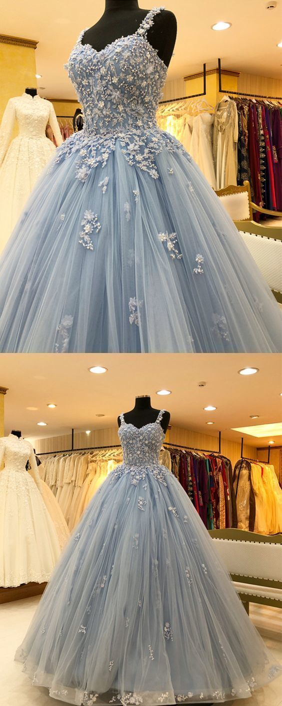 Photo of Chic Lace Beaded Sweetheart Tulle Ball Gowns Quinceanera Dresses – Chiffon Prom Gowns