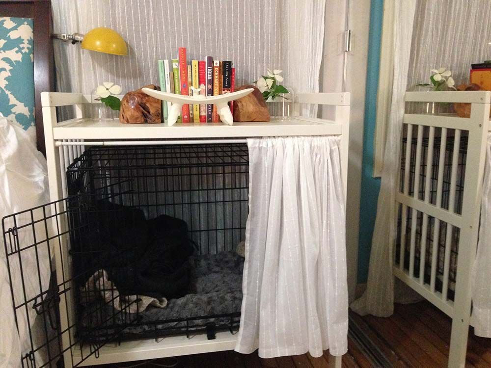 Dog Crate AND Bedside Table Diy dog crate, Dog crate
