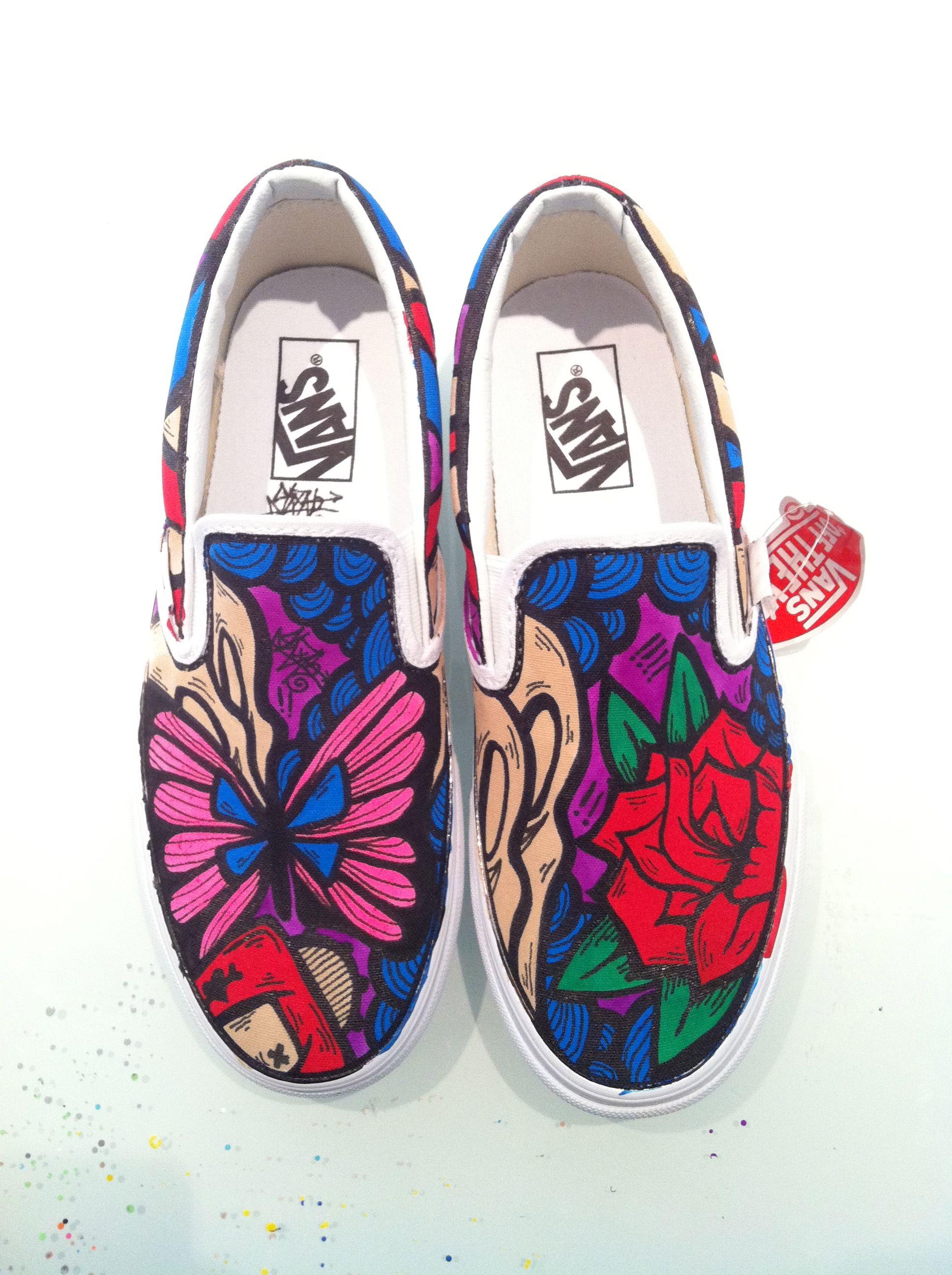 Custom Girl SLOTH Vans only at iamsloth.com order  af9122a55c49e