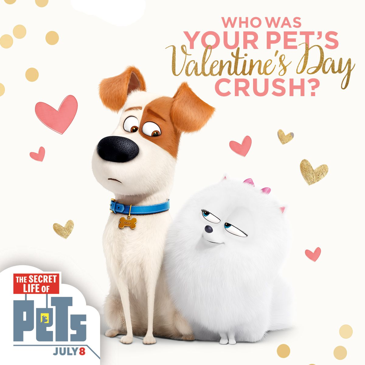 Some Folks Say There Is No Love Stronger Than Puppy Love Well Gidget The Fluffy Pomeranian Sure Agrees The Secret L Secret Life Of Pets Secret Life Pets