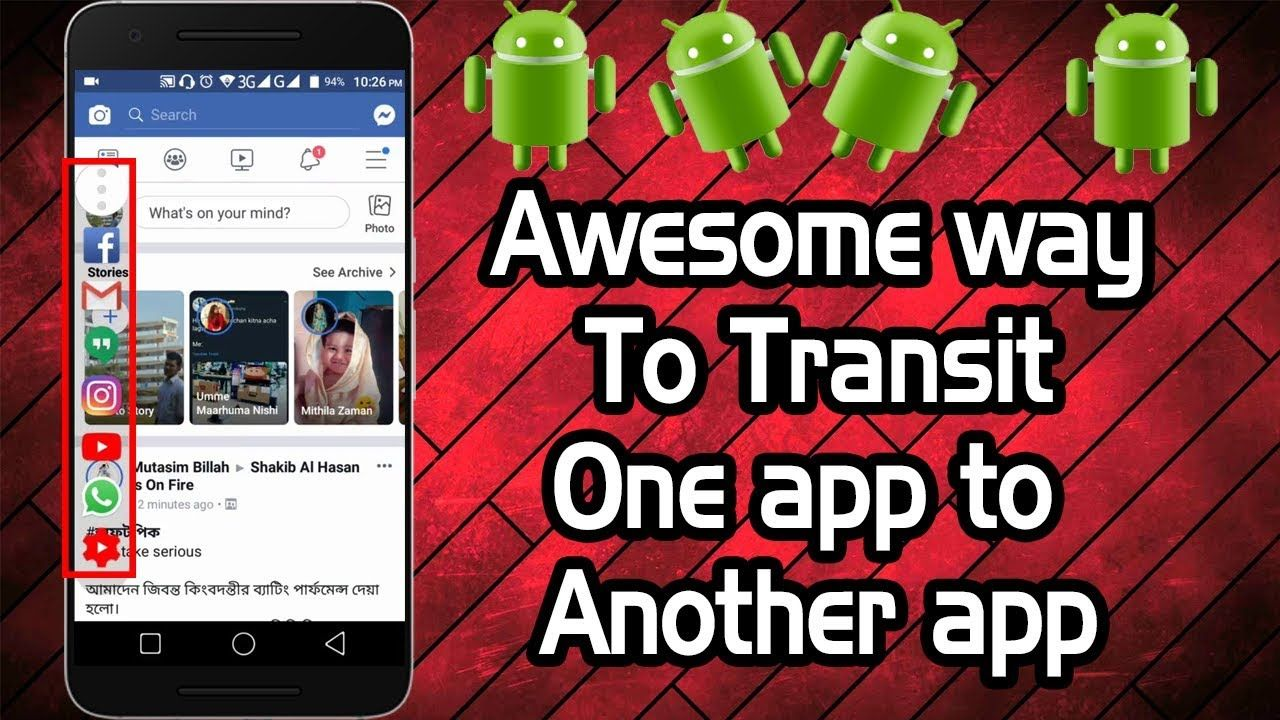 Awesome way to transit one app to another app within one