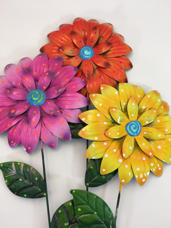 Metal Garden Art,Flower Garden Stake,Metal flower Garden Stake