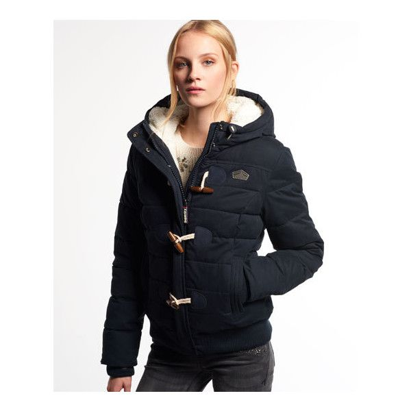 9d50064bd Superdry Microfibre Toggle Puffer Jacket ($130) ❤ liked on Polyvore ...
