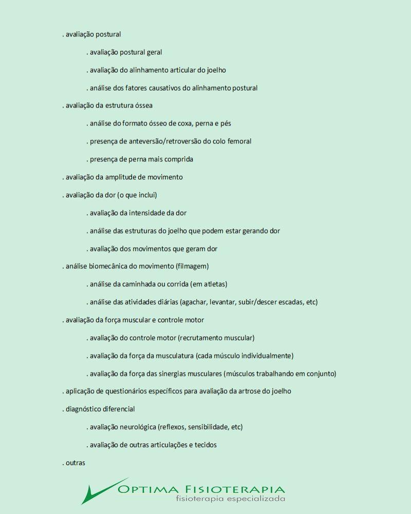 Nosso Metodo De Avaliacao Para Artrose No Joelho Avaliacao Postural