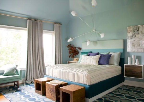Blaues Schlafzimmer ~ Besten schlafzimmer bilder auf sitzbank ihr und