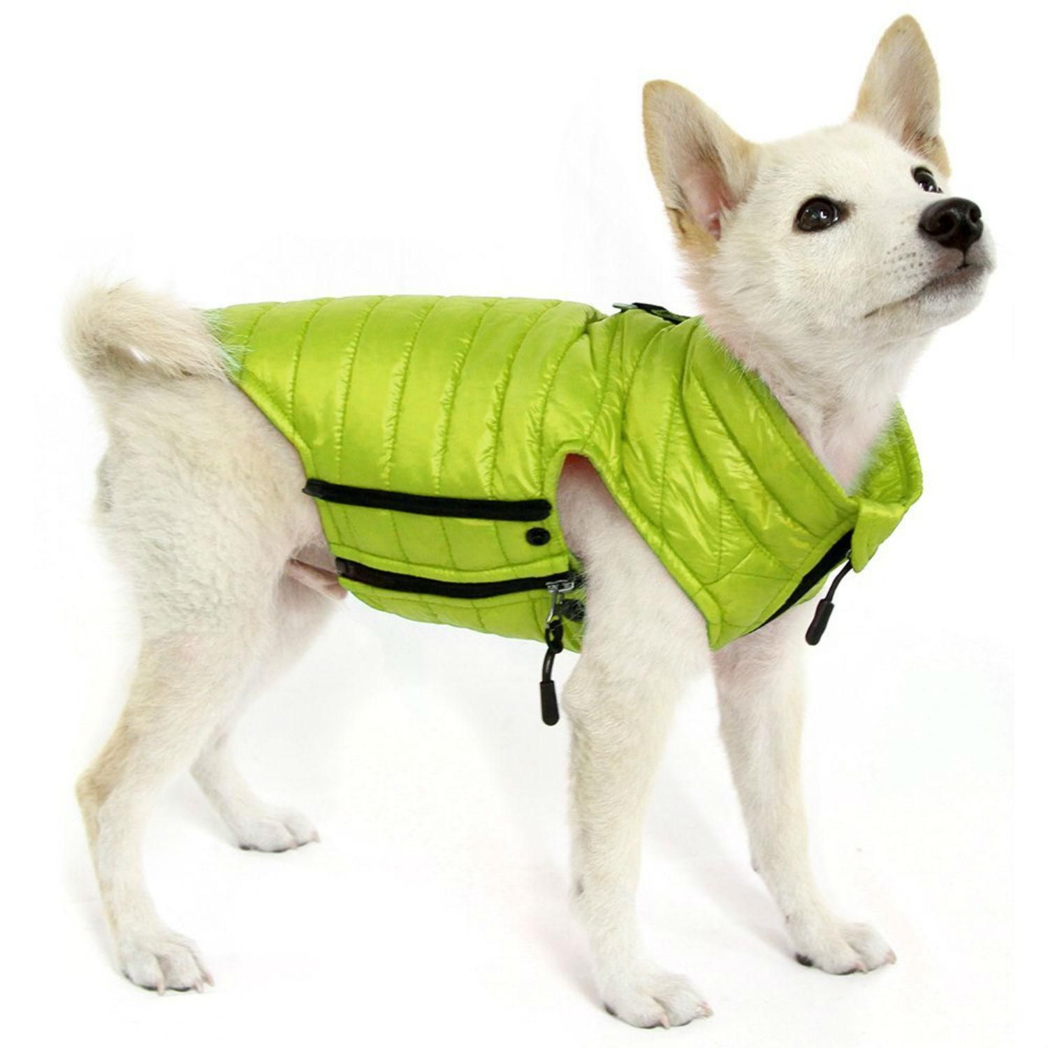 Gooby Puffer Down Dog Vest Lime At Baxterboo Com Dog Beds For