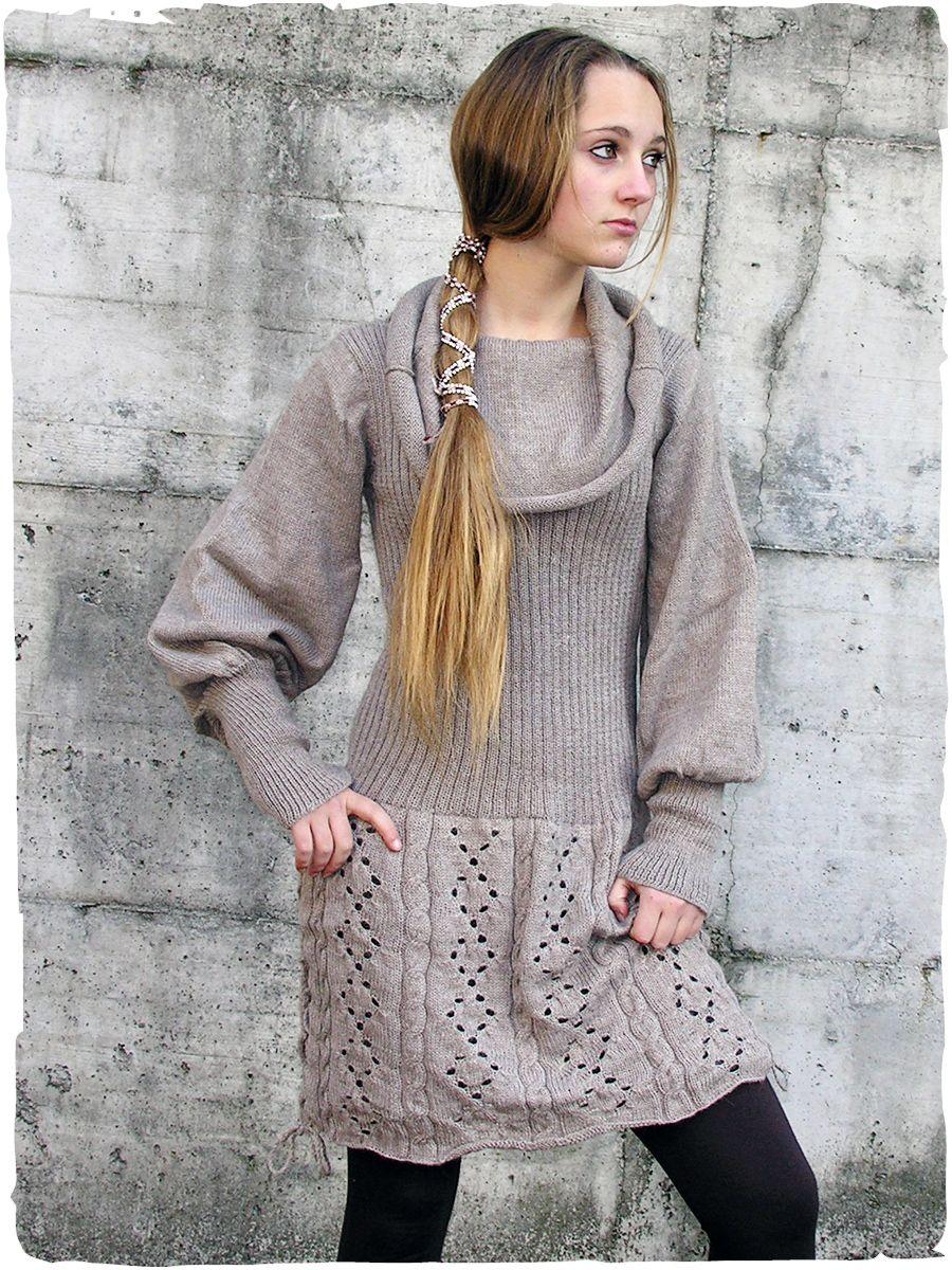 12ea40655315 Abito Nathalie elegante  abito con manica lunga lavotato a mano in  Peru con