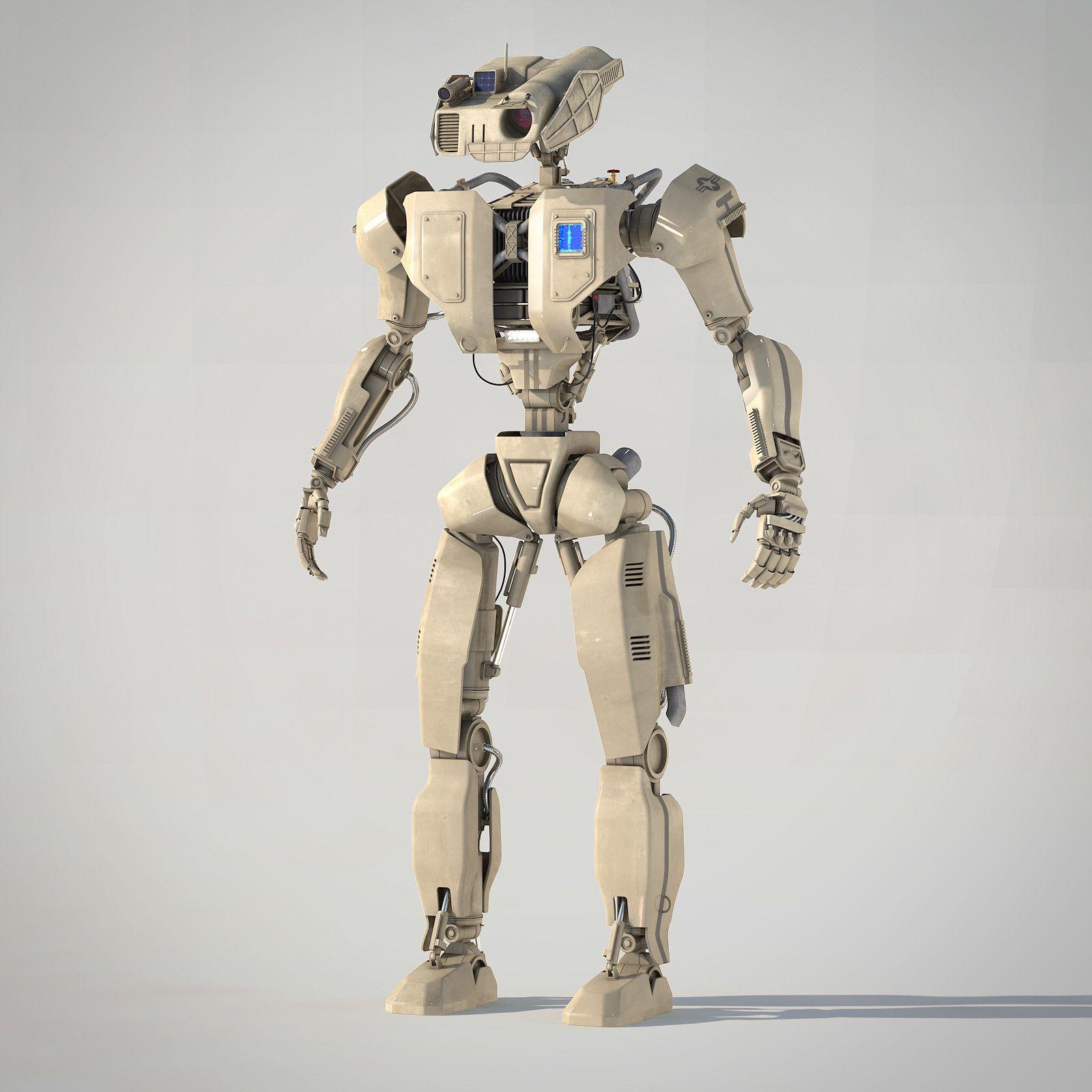 robot android 3d 3ds Robots characters, Robot, 3d model