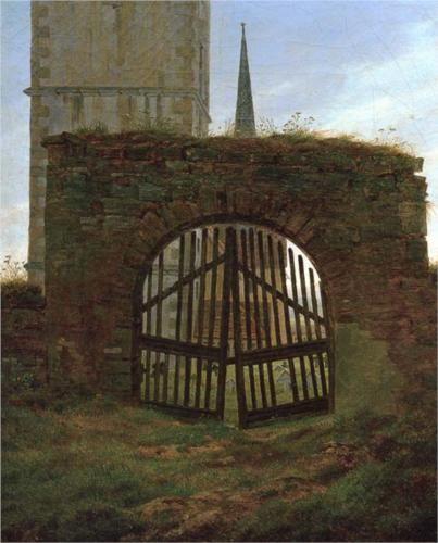 Churchyard Gate Caspar David Friedrich Caspar David Friedrich Arte Romanticismo Pintor Paisajista