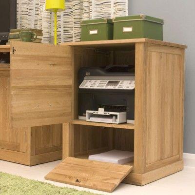 image of the baumhaus mobel oak printer cupboard cor07c