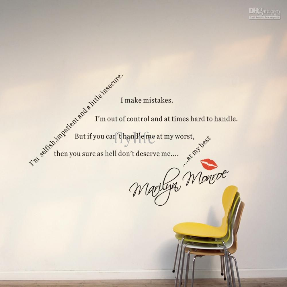 spiritual quotes sayings for lovers by marilyn monroe diy wall