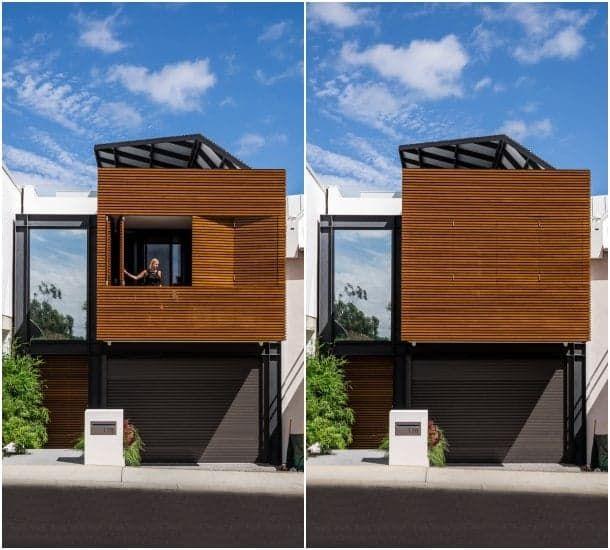 Claremont casa adosada fachada madera EL MOLINAR Pinterest - fachada madera