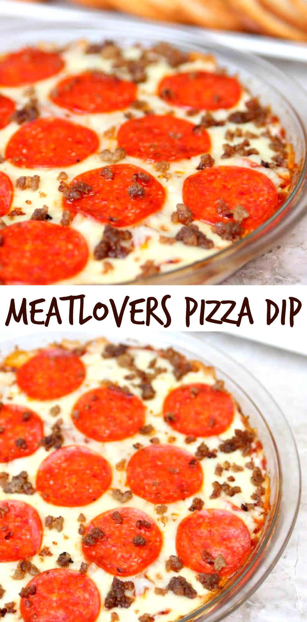 Meatlovers Pizza Dip Rezept Favorite Recipes Pinterest