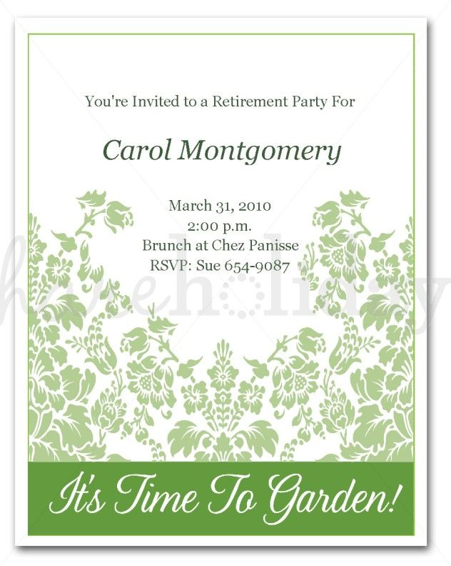 Retirement Invitation Template Word  Wedding Invitation