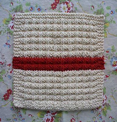 salón de andar por casa: waffle tejer patrón de la paño de cocina ...