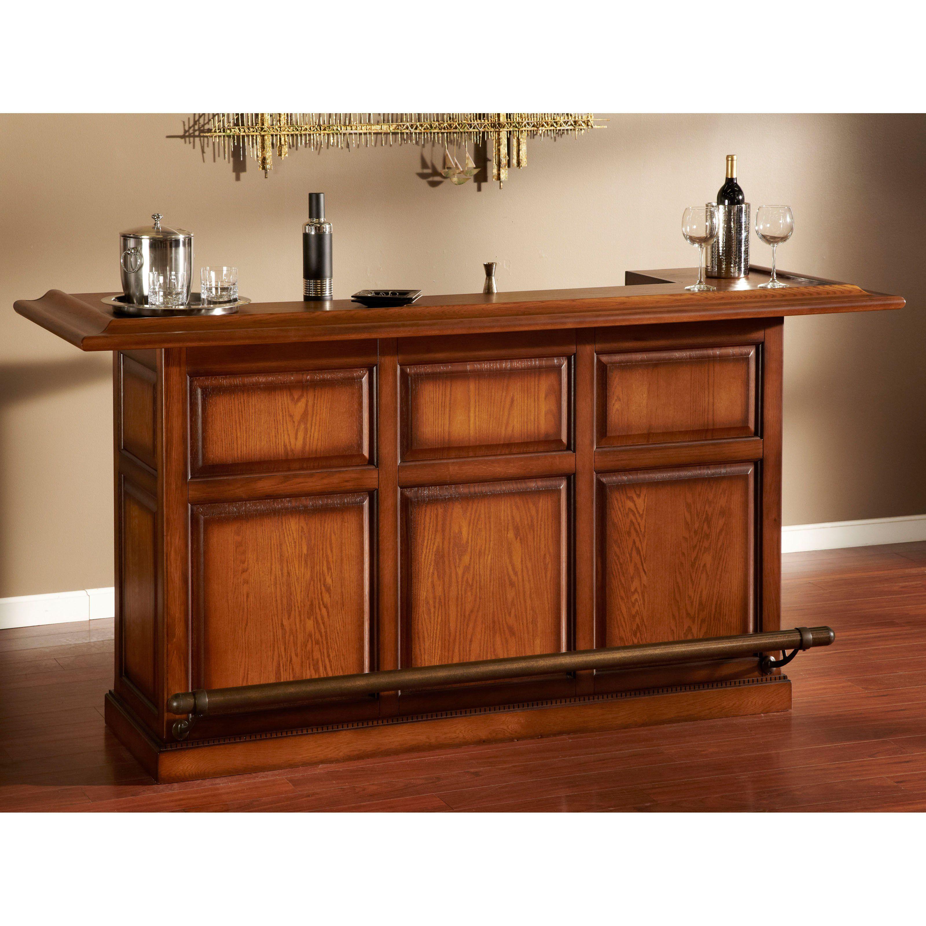 American Heritage Furniture Restoration: AHB Kokomo Home Bar - Vintage Oak