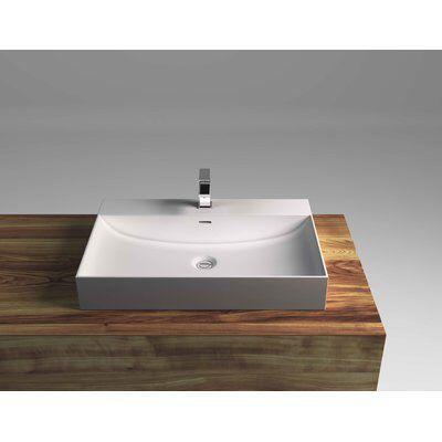 Rectangular Vessel Bathroom Sink with Overflow Guest Bath