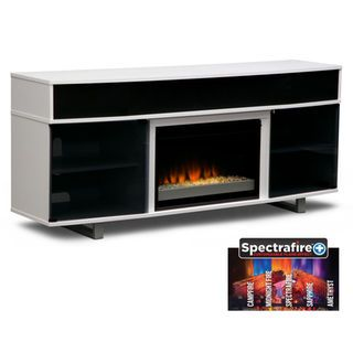 Pacer 72 Contemporary Fireplace Tv Stand With Sound Bar White