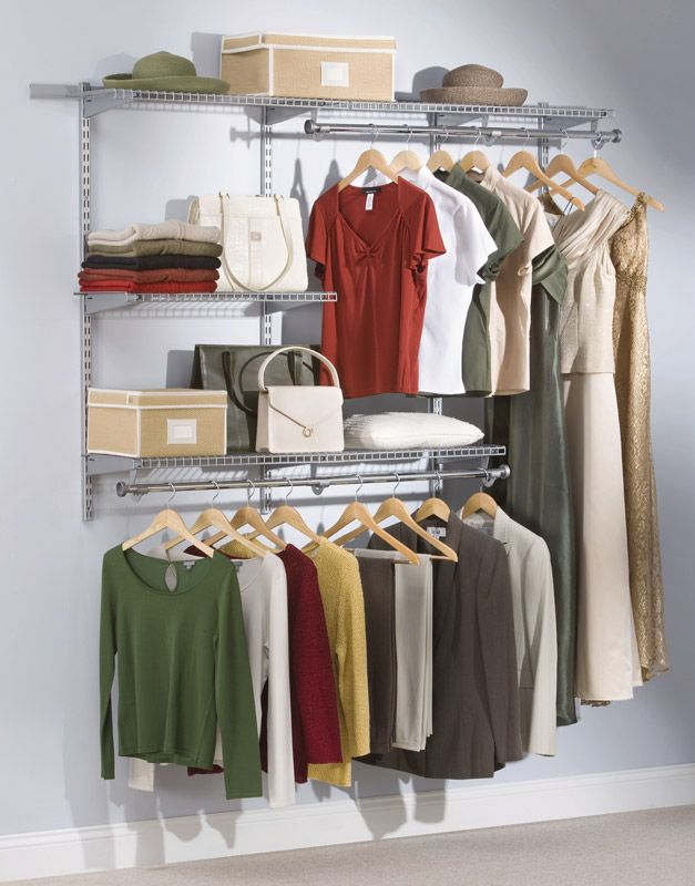 Attirant Amazon.com: Rubbermaid 3H11 Configurations 3 To 6 Foot Classic Custom Closet  Kit, Titanium: Home U0026 Kitchen