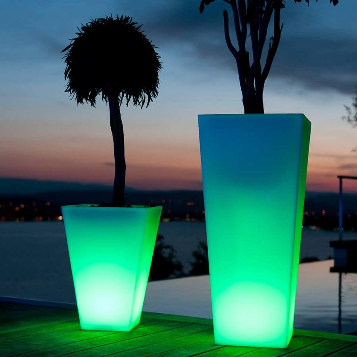 Bluetooth Steuerbarer Led Blumentopf Rumba 50 Cm Im Freien Pflanzen Und Aussenbeleuchtung