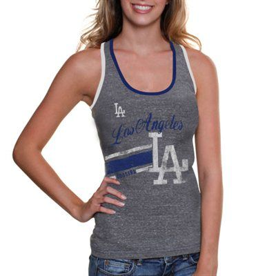New York Yankees Women s Smashmouth Tri-Blend Tank Top - Ash abf3cad8754