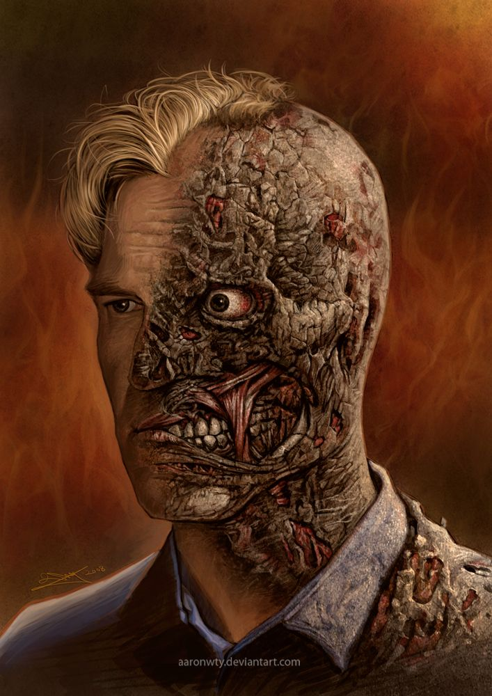 Harvey dent two face tattoo video bokep bugil for Two faced tattoo