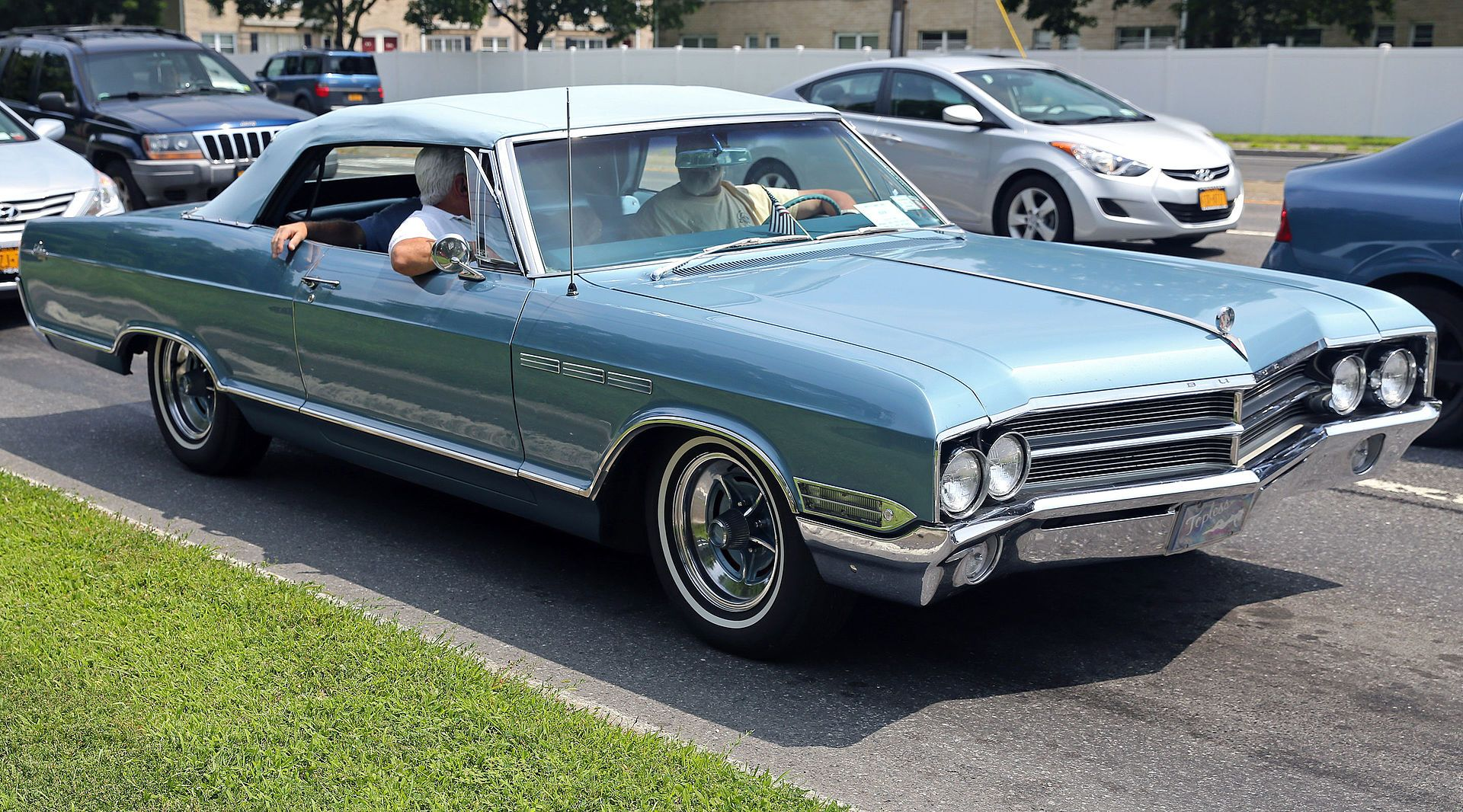1965 Buick Lesabre Convertible In Blue Front Right Buick