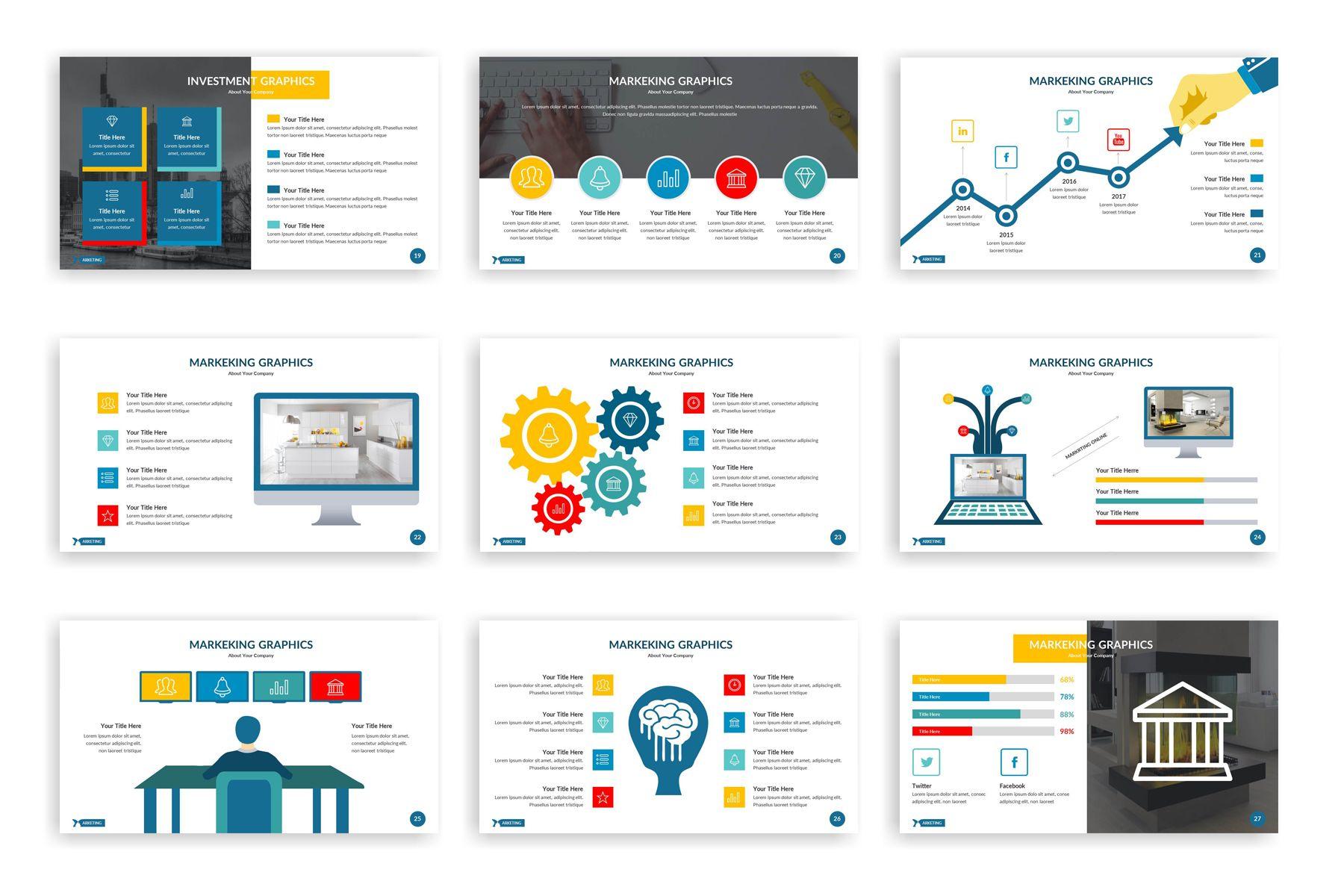 Marketing Powerpoint Template 77898 Keynote Template