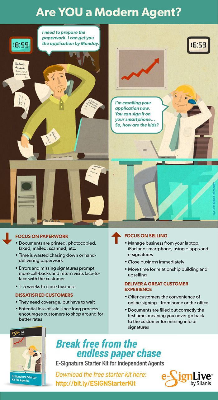 Modern Agents Use E Signatures Infographic Life Insurance