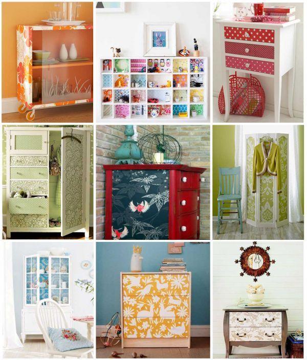 C mo renovar tus muebles usando papeles estampados ideas - Papel decorativo para muebles ...