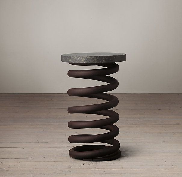 Charmant Living A Beautiful Life ~ Industrial Coil Stool