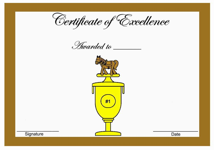 Horse themed award certificates themed award certificates free horse themed award certificates yadclub Images