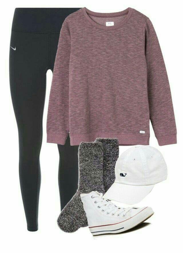 black nike leggings pink sweat shirt dark grey fuzzy