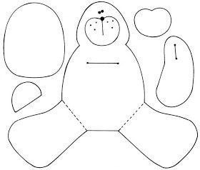 !!!!♥ Feltro-Aholic ♥ Moldes e pap em feltro e feltro estampado!: Molde Urso Fofo