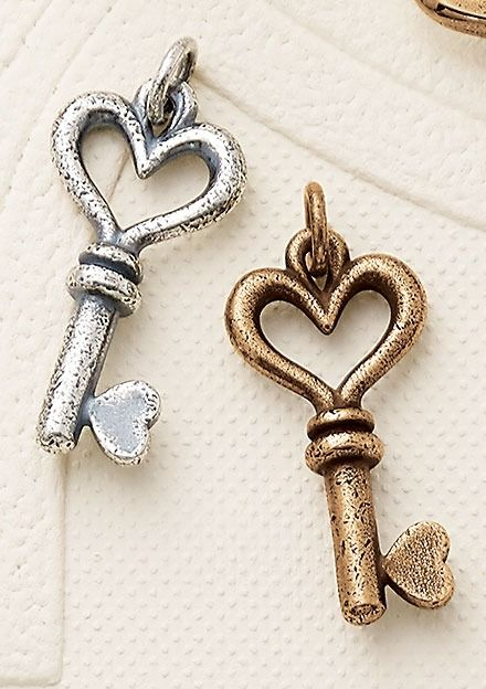 Heart Charms Solid Tibetan Silver Pendant Pack of 10