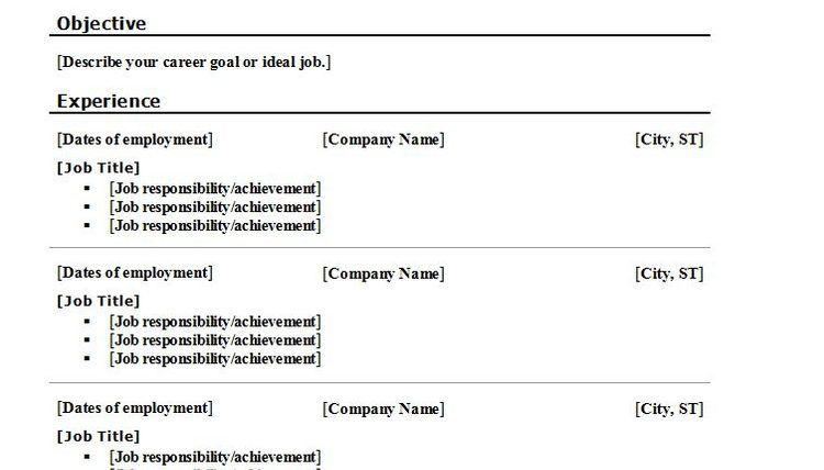 Resume Format Dates Resume Format Chronological Resume Template Functional Resume Template
