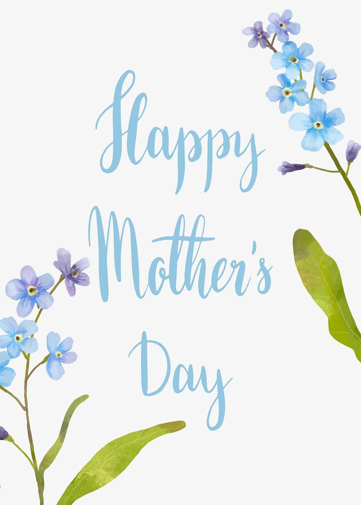 Download premium vector of Happy Mother's Day card vector 845981